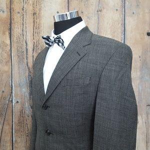 Ralph Lauren Sport Coat Mens 40L Wool Black Tan